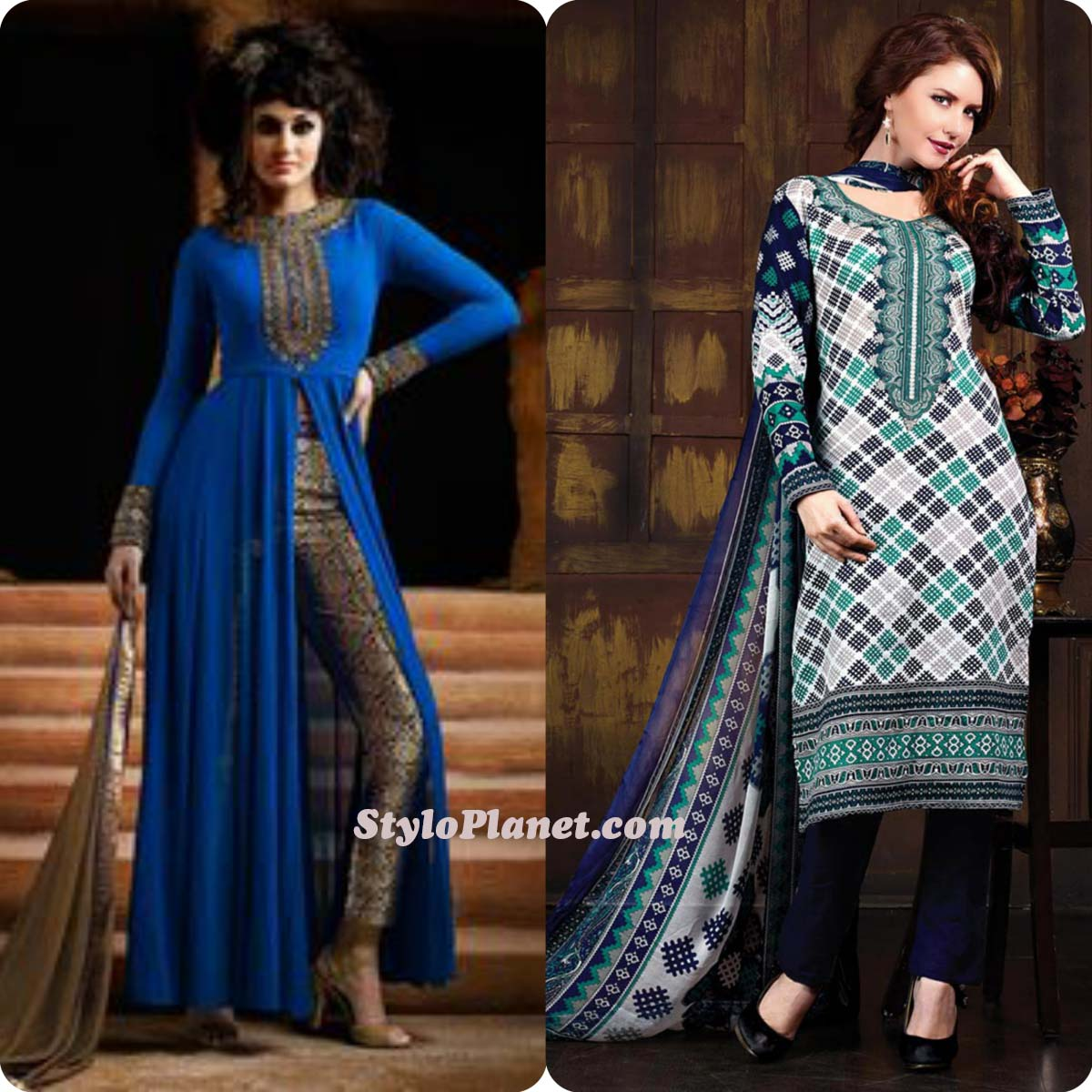 Latest Straight Pant Suits Dresses Design Collection for Women 2016-2017 (26)