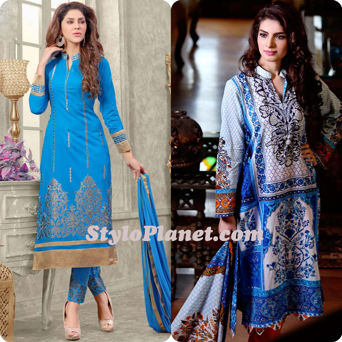 Latest Straight Pant Suits Dresses Design Collection for Women 2016-2017 (3)