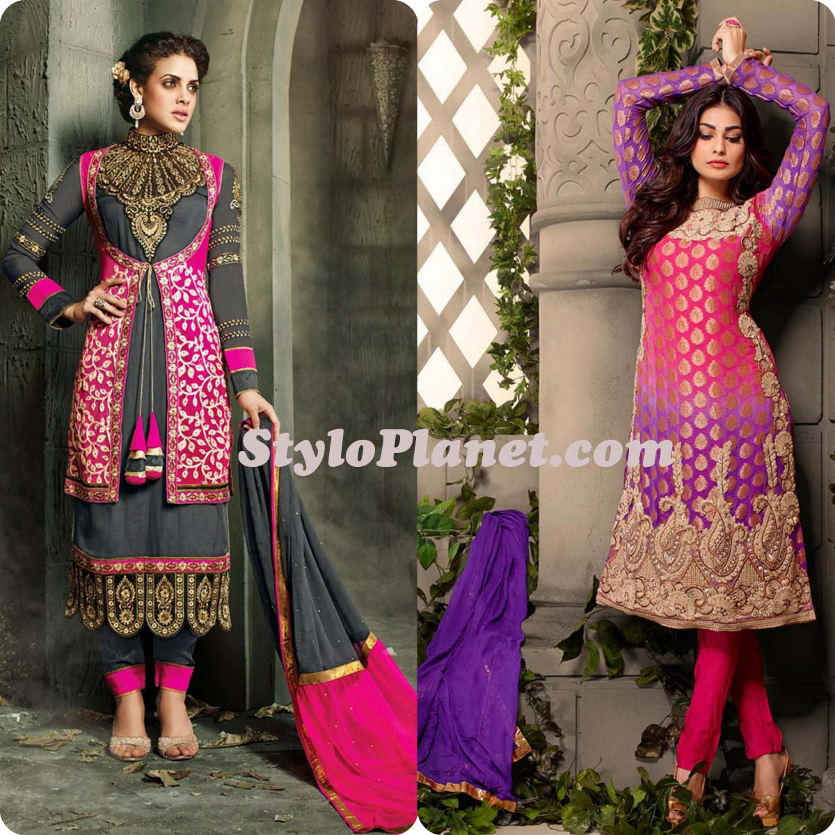 Latest Straight Pant Suits Dresses Design Collection for Women 2016-2017 (8)