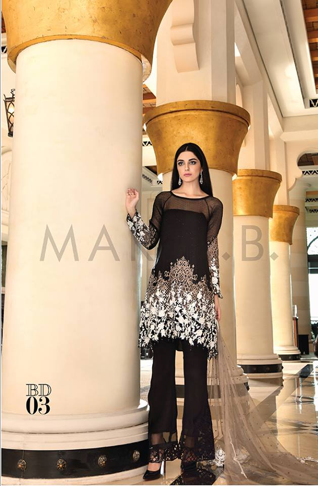 Maria.b Mbroidered Eid Dresses Designs 2016-2017 Collection  (11)