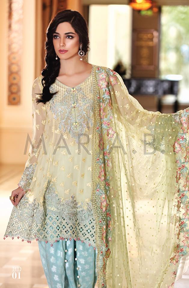 Maria.b Mbroidered Eid Dresses Designs 2016-2017 Collection  (17)