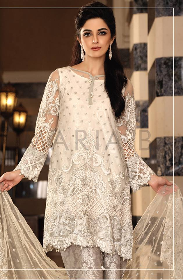 Maria.b Mbroidered Eid Dresses Designs 2016-2017 Collection  (2)