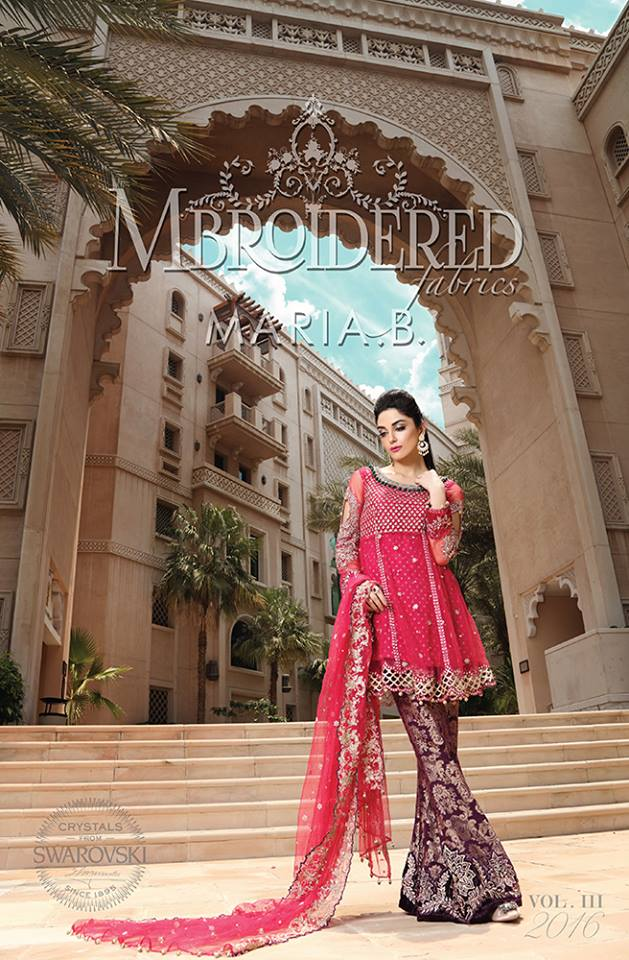 Maria.b Mbroidered Eid Dresses Designs 2016-2017 Collection  (5)