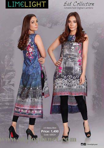 Limelight Unstitched Digital Cambric Eid Collection 2016-2017 (2)