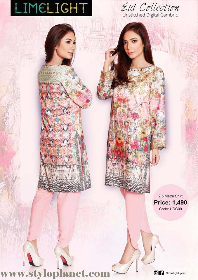 Limelight Unstitched Digital Cambric Eid Collection 2016-2017 (6)