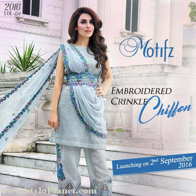 Motifz Premium Embroidered Luxury Lawn Collection 2016-2017 (10)
