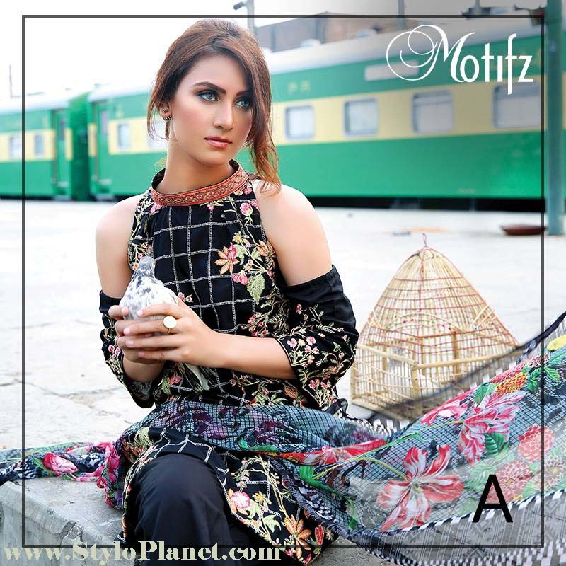 Motifz Premium Embroidered Luxury Lawn Collection 2016-2017 (11)
