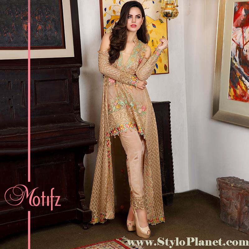 Motifz Premium Embroidered Luxury Lawn Collection 2016-2017 (15)