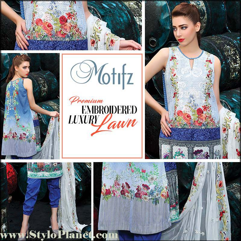 Motifz Premium Embroidered Luxury Lawn Collection 2016-2017 (3)