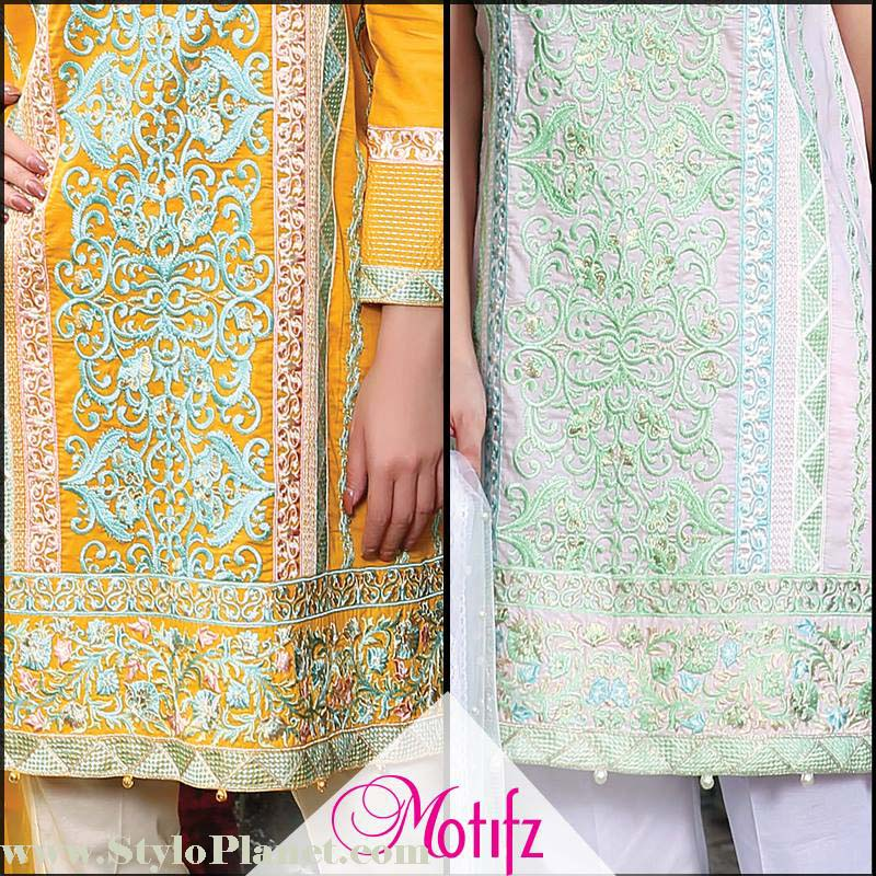 Motifz Premium Embroidered Luxury Lawn Collection 2016-2017 (5)