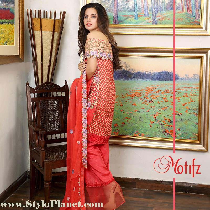 Motifz Premium Embroidered Luxury Lawn Collection 2016-2017 (6)