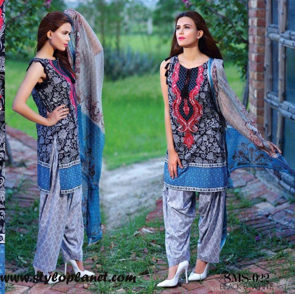 Sana & Samia Midsummer'16 Collection by LALA Textiles for Women (13)