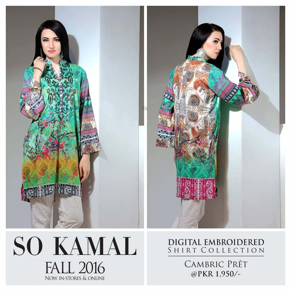So Kamal Digital Embroidered Shirt Collection 2016-2017 Cambric Pret Dresses (13)