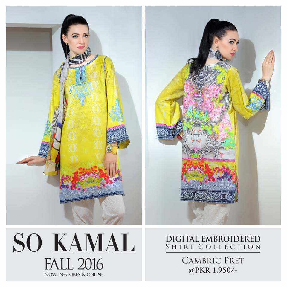 So Kamal Digital Embroidered Shirt Collection 2016-2017 Cambric Pret Dresses (16)