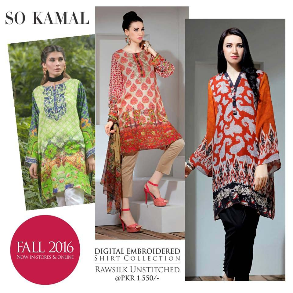So Kamal Digital Embroidered Shirt Collection 2016-2017 Cambric Pret Dresses (19)
