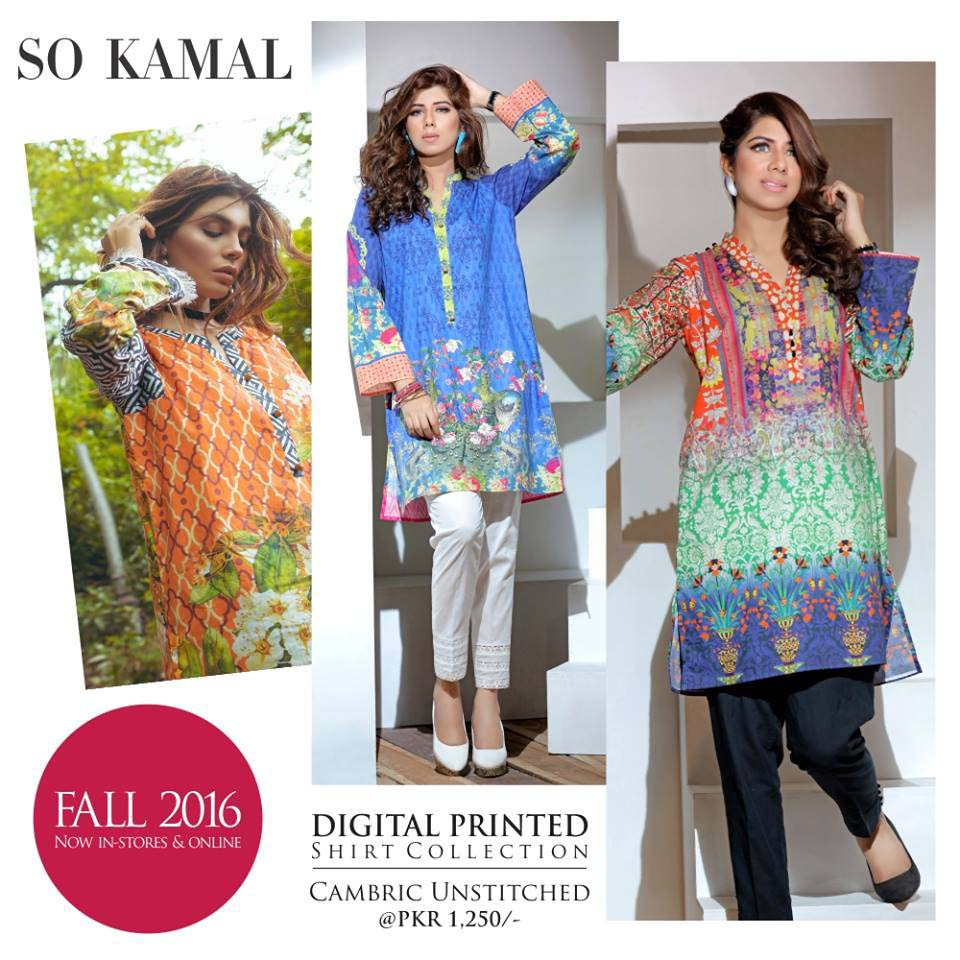 So Kamal Digital Embroidered Shirt Collection 2016-2017 Cambric Pret Dresses (21)