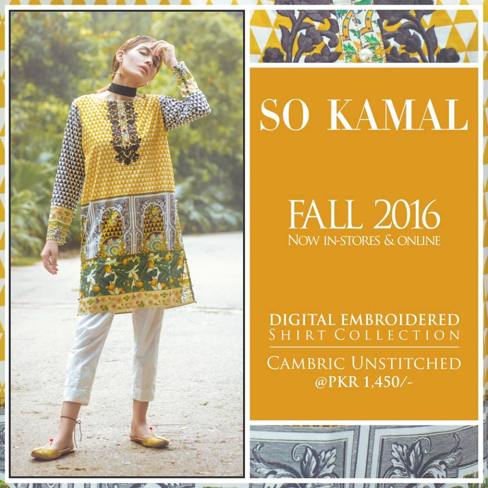 So Kamal Digital Embroidered Shirt Collection 2016-2017 Cambric Pret Dresses (7)