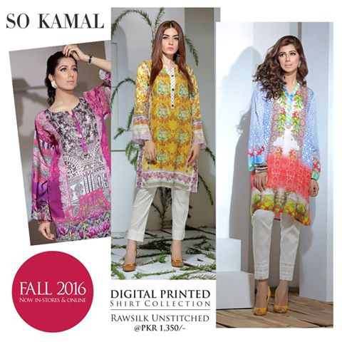 So Kamal Digital Embroidered Shirt Collection 2016-2017 Cambric Pret Dresses (8)