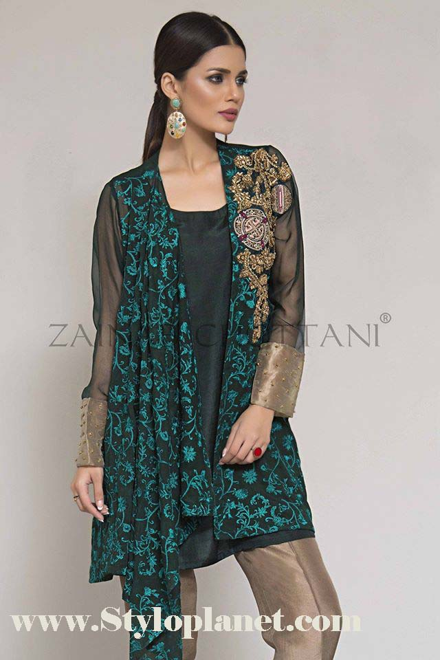 Zainab Chottani Premium Embroidered Eid Collection 2016-2017 (19)