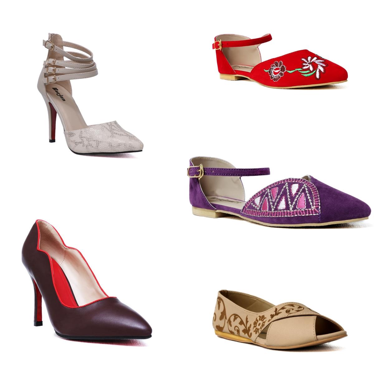 Trendy new Borjan ladies shoes for eid photos