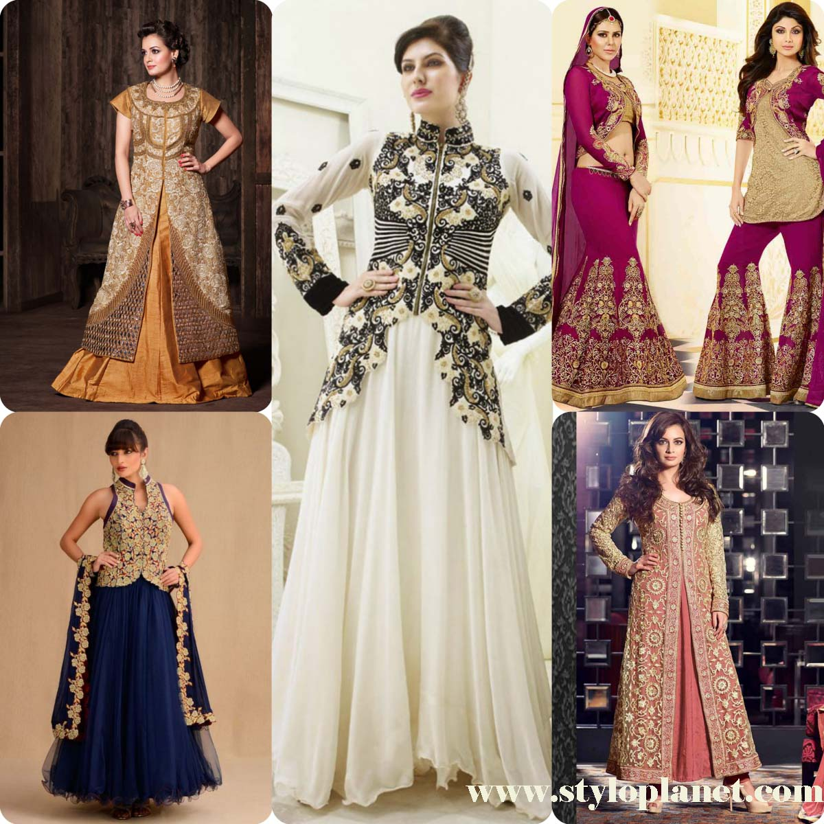 Jacket Style Anarkali Dresses Suits For Girls Stylo Planet