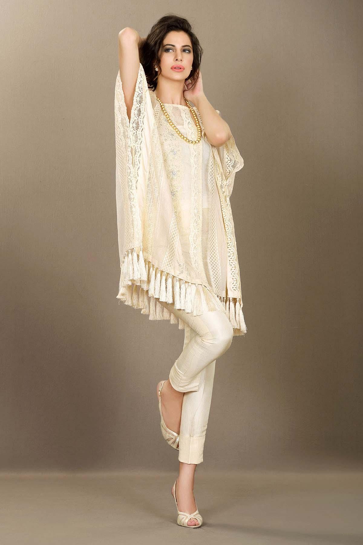 Modern dress of pakistan 2016 - Cape Style Dresses For Women By Pakistani Designers 2016 2017 1