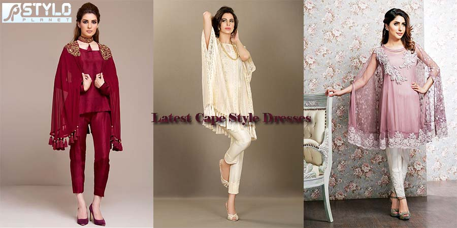 bd15fd3c2 Pakistani Latest Cape Style Dresses Trends 2016