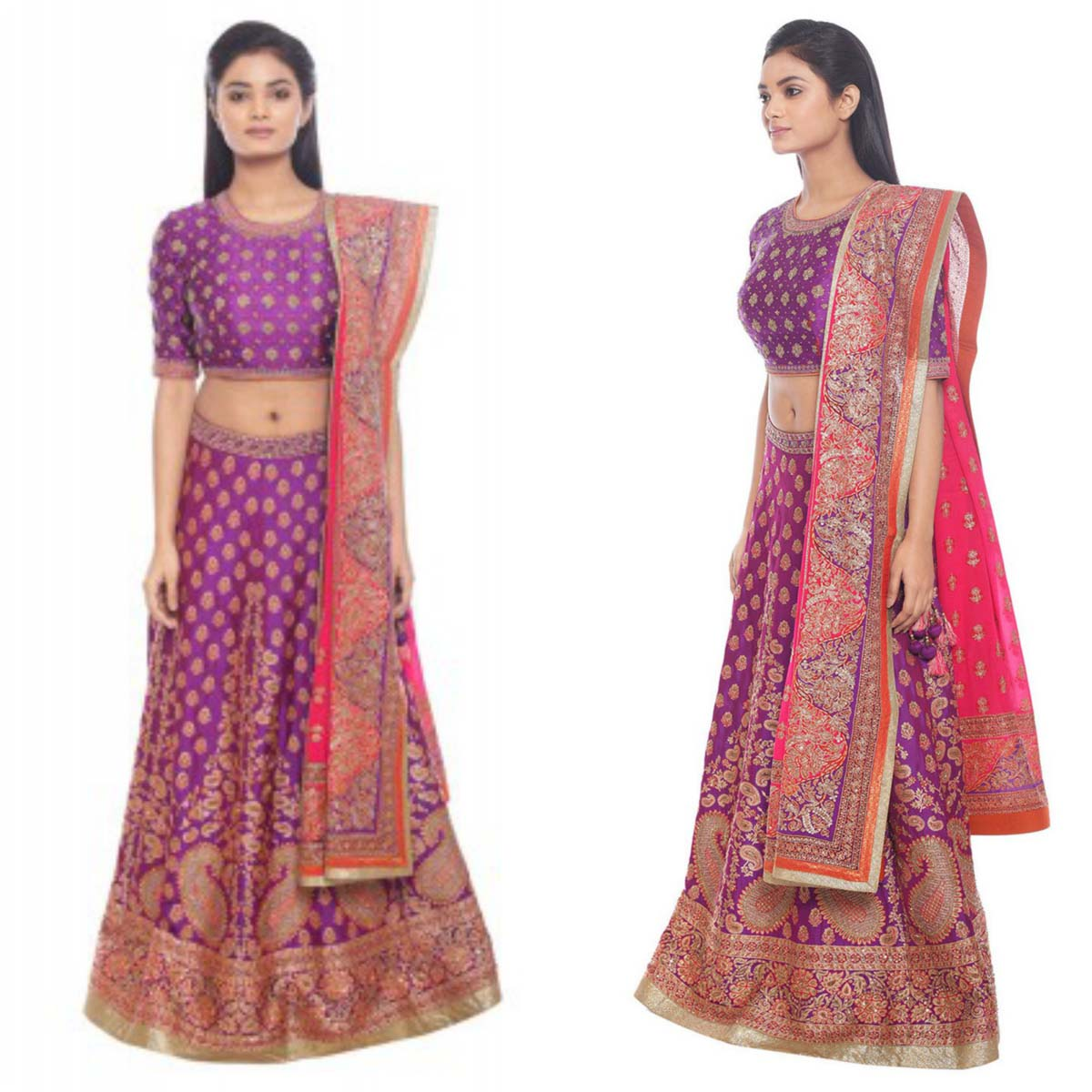 fuschia-and-purple-benaras-woven-lehenga