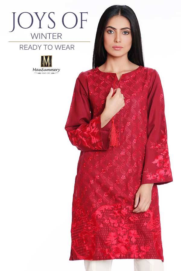 Mausemmery Newest Winter Unstitched and Pret Collection for Women 2016-2017