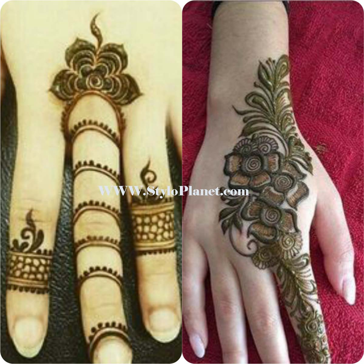 Mehndi design 2017 ki - Popular Latest Simple Arabic Mehndi Designs 2017 For Eid Fashionglint