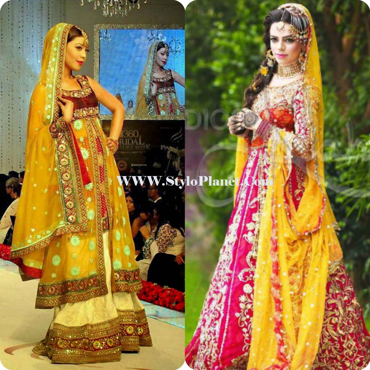yellow Color Mehndi Dresses