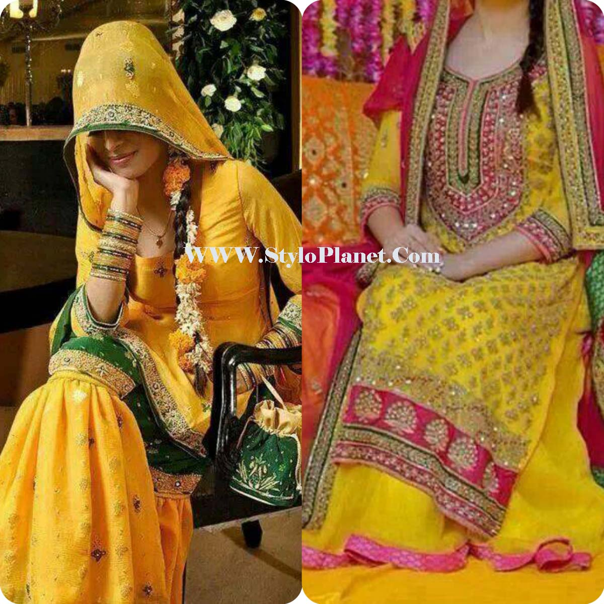 Mehndi design 2017 in pakistan - Perfect Pakistani Mehndi Dresses 2017 For Stylish Girls Are Very Crucial In Mehndi Due For Marriage And Some Girls Enhance Themselves With The Aid Of Doing