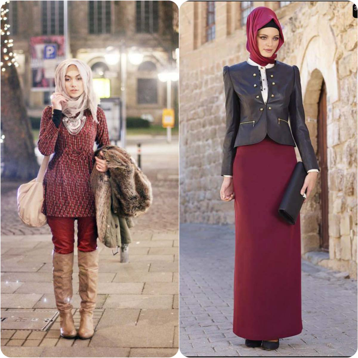Winter Hijab style with Jeans