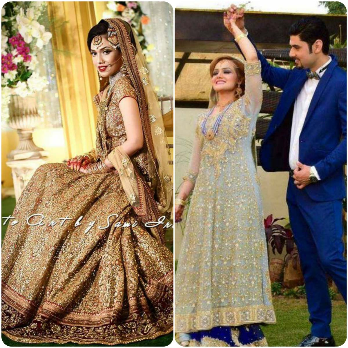 Pakistani bridal dresses for walima