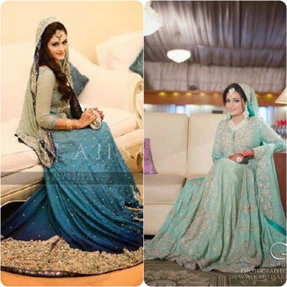 Ferozi Color Walima Dresses 2017