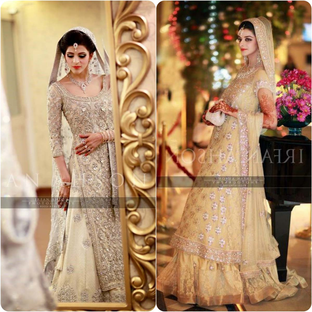 Walima Dresses in Silver Color