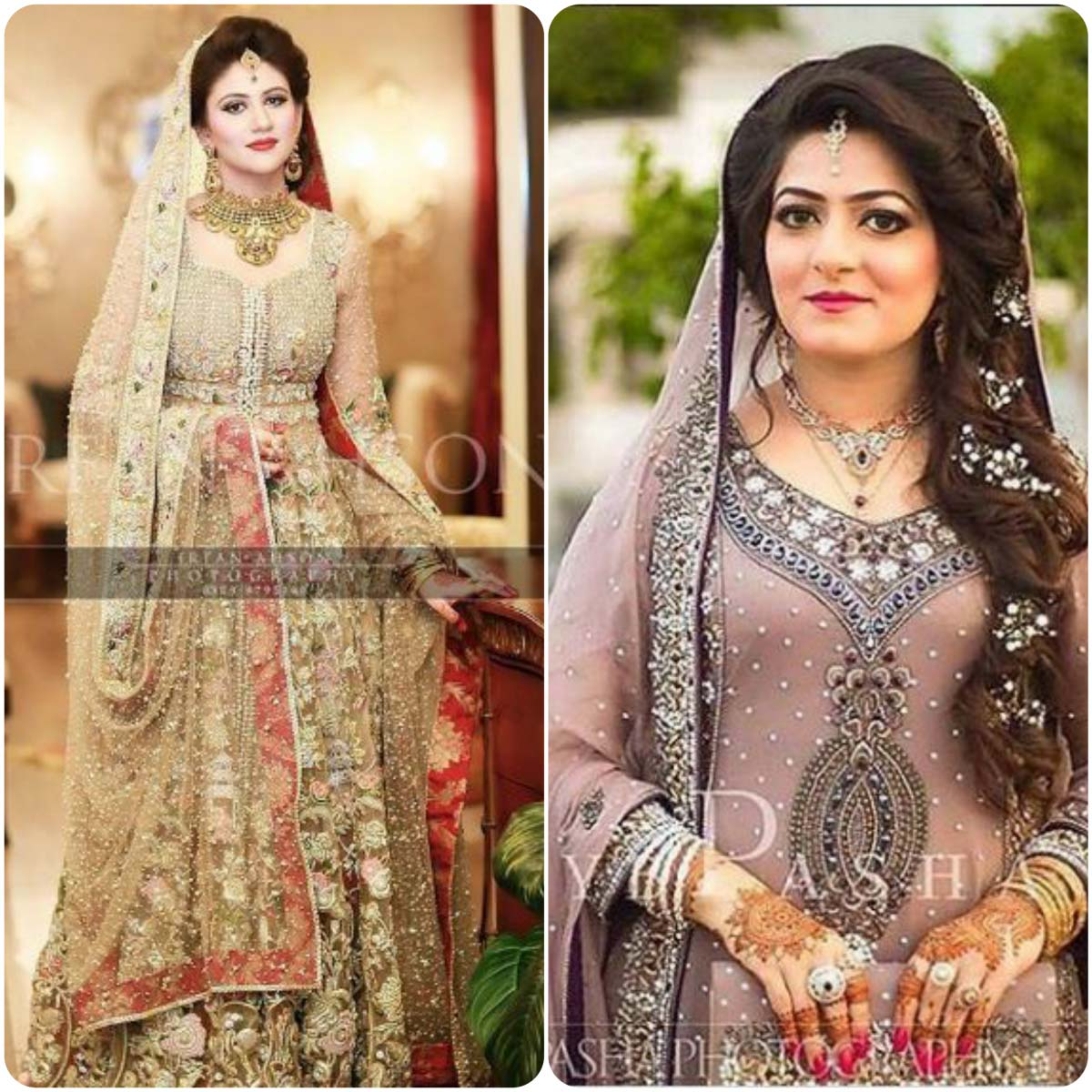 Hairstyles Pakistani Waleema: Walima/Reception Dresses For Wedding Bridals