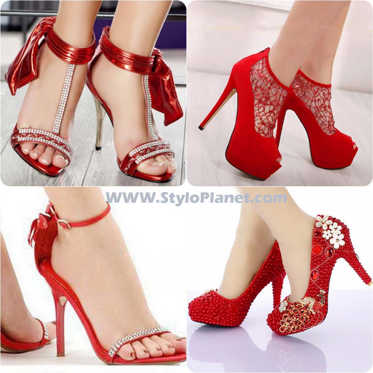 красные обувь модные фото