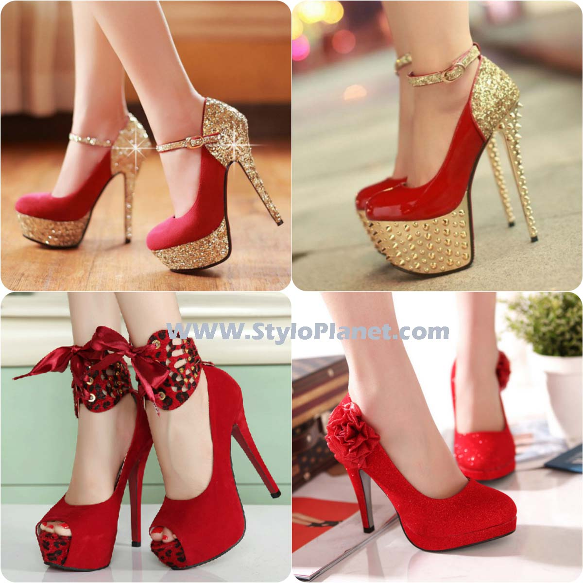 71a66cf2856d Latest Wedding Red Bridal Shoes Collection- Bridal Wedding Footwear  2017-2018