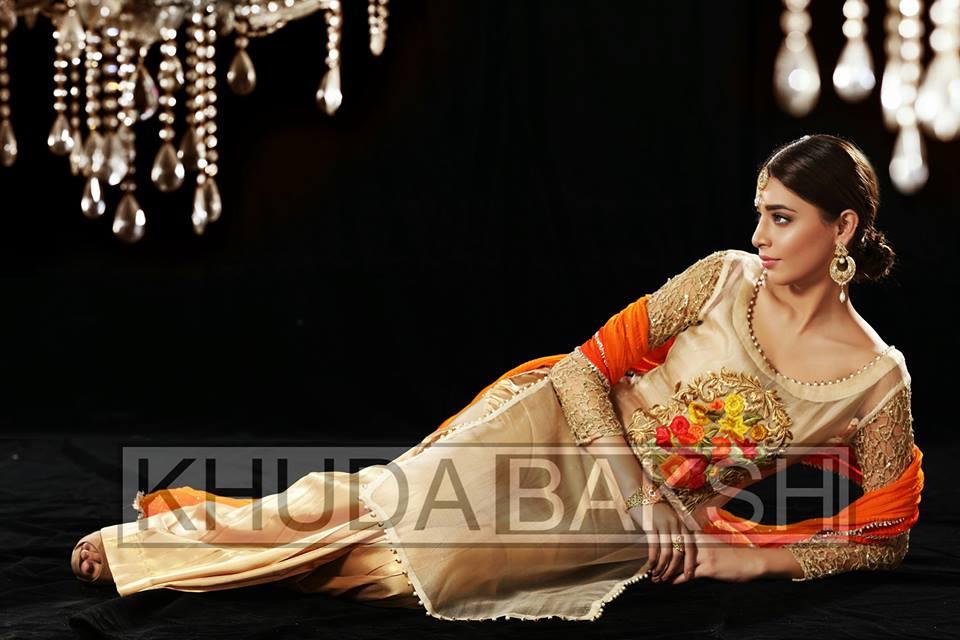 Mehndi Party Dresses 2018 : Latest khuda bakhsh party wear dresses stylo planet