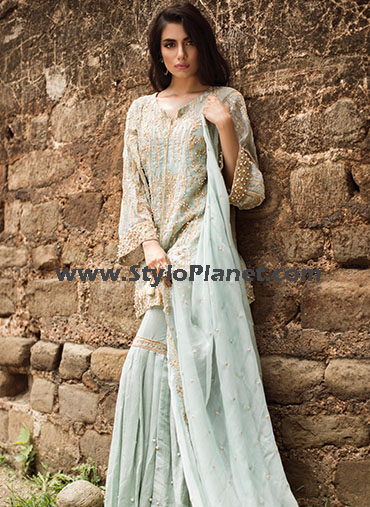 Embroidered collection of bridal wear dresses for