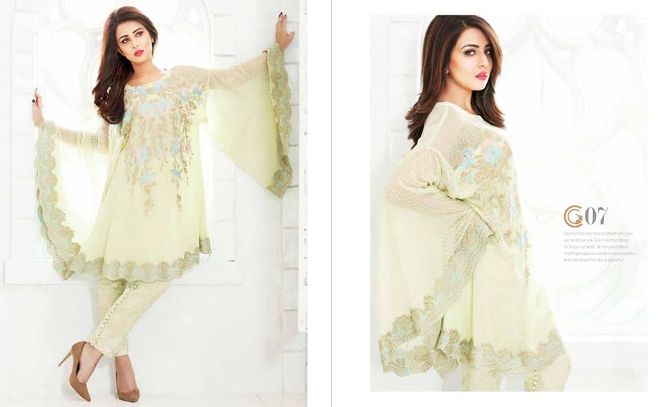 Mehndi Party Dresses 2018 : Latest embroidered formal dresses by charizma stylo planet