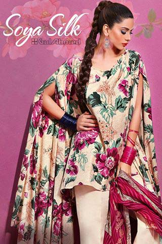 Gul Ahmed Summer Silk & Chiffon Dresses Collection 2017-2018