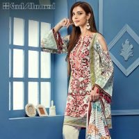 Gul Ahmed Summer Silk & Chiffon Dresses Collection 2017-2018 (4)