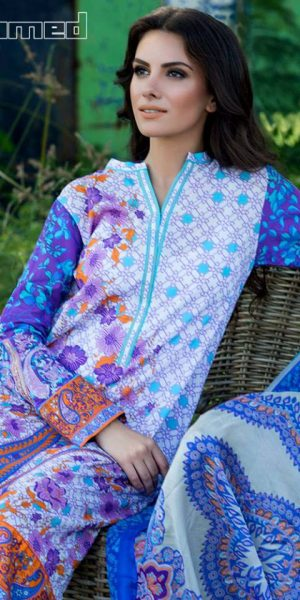 Gul Ahmed Summer Silk & Chiffon Dresses Collection 2017-2018 (6)