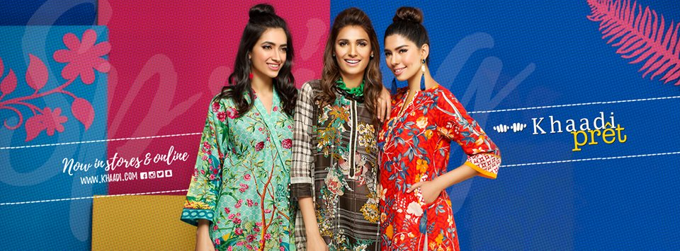 Khaadi Latest Spring Pret Dresses Collection for Women 2017-2018