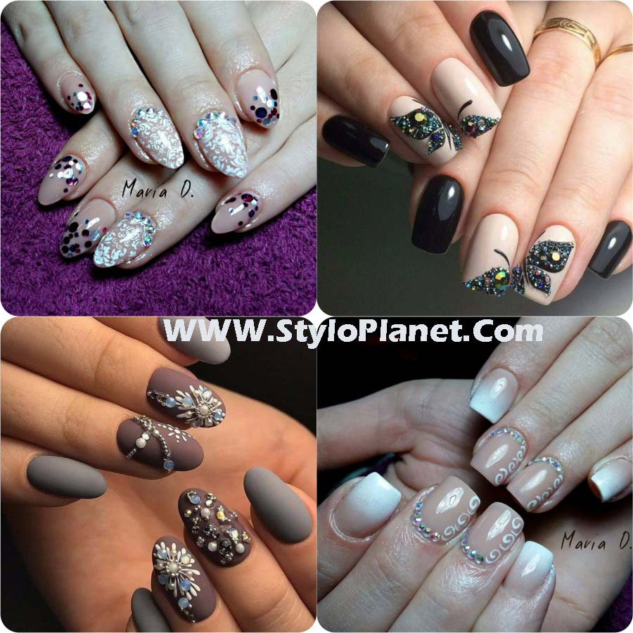 Chic Rhinestones Nail Art Designs for Girls | Stylo Planet