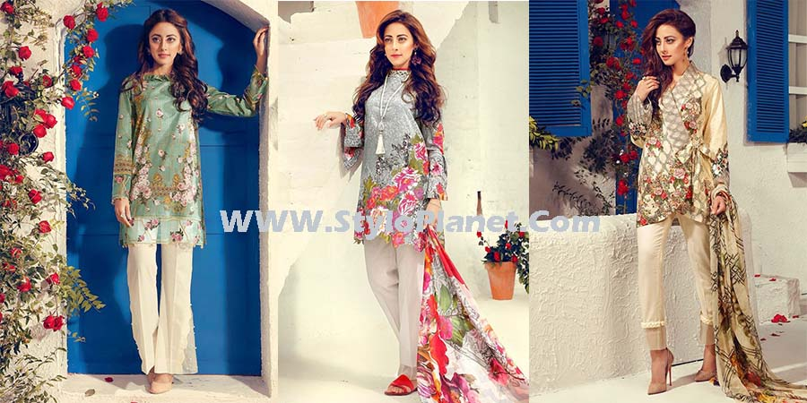 Cross Stitch Summer Printed & Embroidered Lawn Dresses Collection 2017-2018