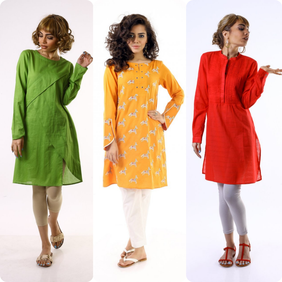 Ego Latest & Newest Ladies Summer Pret Kurtis Collection 2017-2018