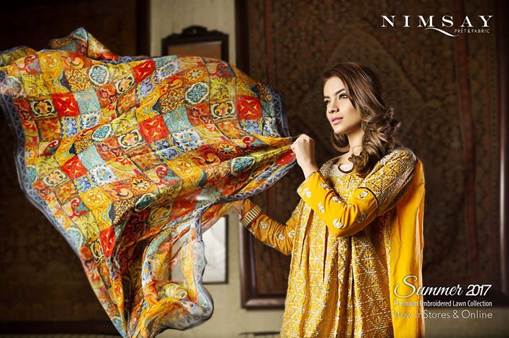 Nimsay Premium Embroidered Summer Lawn 2017-18 Collection